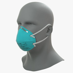 3D model n95 respirator mask male