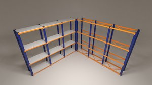 industrial shelf 3D