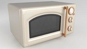 microwave vintage 3D
