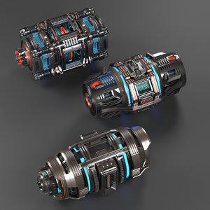 kitbash pack sci 3D model