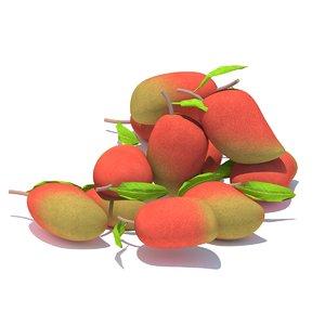 3D fruit mango