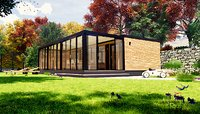 modern mobile home tiny house vacation house on 38 m2