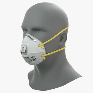 3D n95 particulate respirator mask