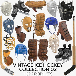 vintage ice hockey 02 model