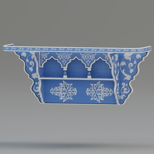 shelf designed 3D model