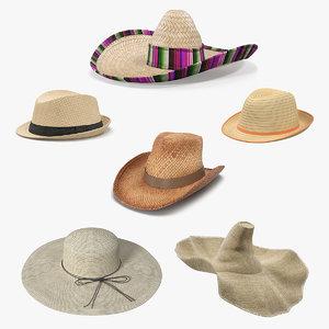 straw hats 3 3D