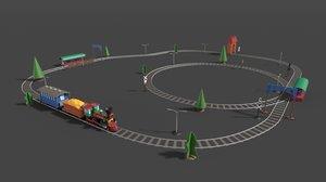 toy railway model