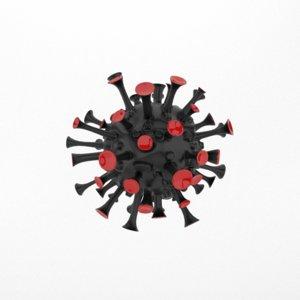 virus coronavirus 3D model
