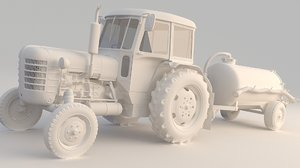 3D tractor septic tanker model