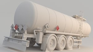 3D model fuel bitumen asphalt tank