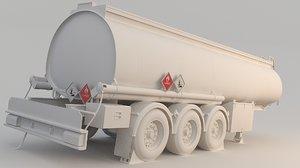 fuel tank trailer 3D
