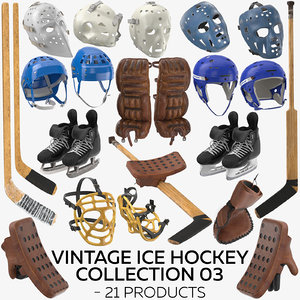 3D vintage ice hockey 03