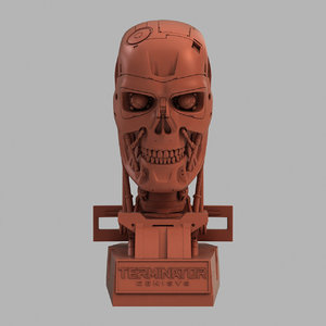 3D terminator t-800 genisys skull