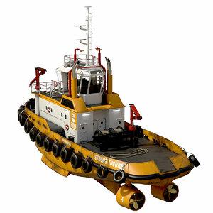 harbour tug vessels 3D model