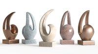 Modern Decorative Abstract Stone Art Sculpture 05