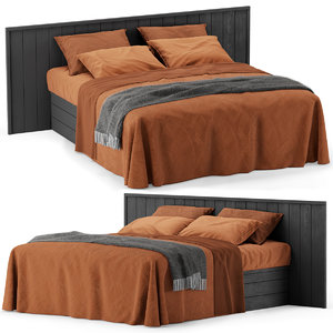 bed terracotta 3D model