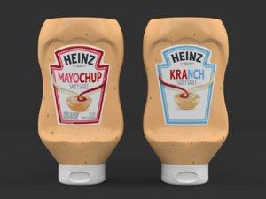 3D realistic heinz sauce mayonnaise