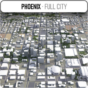 city phoenix surrounding area 3D model
