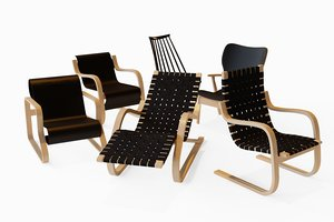 3D lounge artek chair