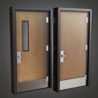 Classroom Door - CLA - PBR Game Ready