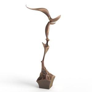 abstract art bronze 3D model