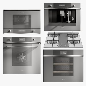 3D realistic kitchen appliances hob