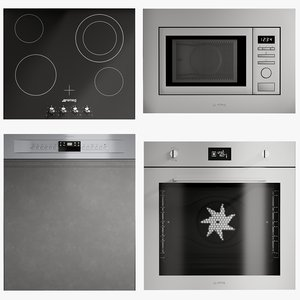 realistic kitchen appliances microwave model