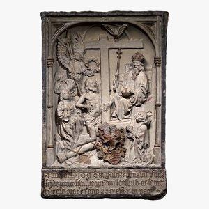 3D religious relief model