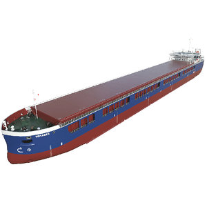 3D contain cargo vessel general