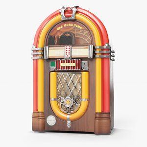 time wurlitzer juke box 3D model