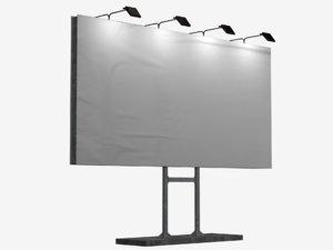 billboard 2 3D model