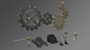 3D gears levers mechanisms