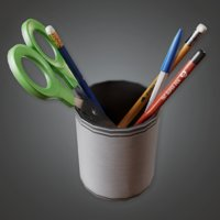 Pencil Jar - CLA - PBR Game Ready