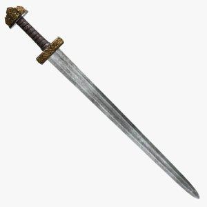 karoling viking sword 3D