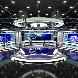 3D sets tv studio model