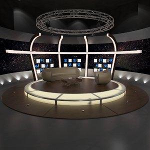 virtual sets tv studio 3D model