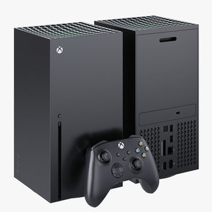xbox series x console 3D model