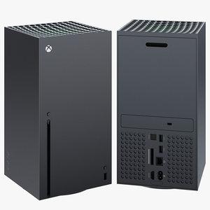 3D xbox series x console