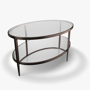 3D model clairemont oval coffee table
