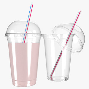 3D plastic cup 400ml
