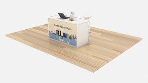 3D counter table desk bar stool