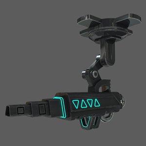 sci fi turret 3D model
