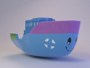 3D cute toy boat