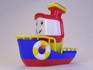 3D toy cute boat model