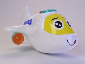 cute toy plane 3D