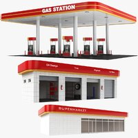 Gas Station Building Collection