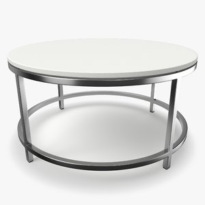 era limestone coffee table 3D