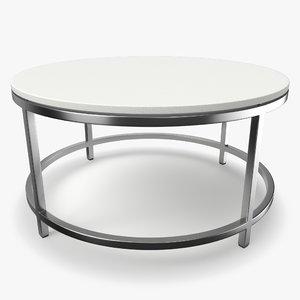 era limestone coffee table 3D