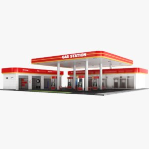 3D real gas station