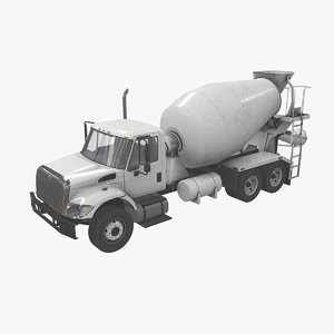 navistar international 7400 mixer truck 3D model